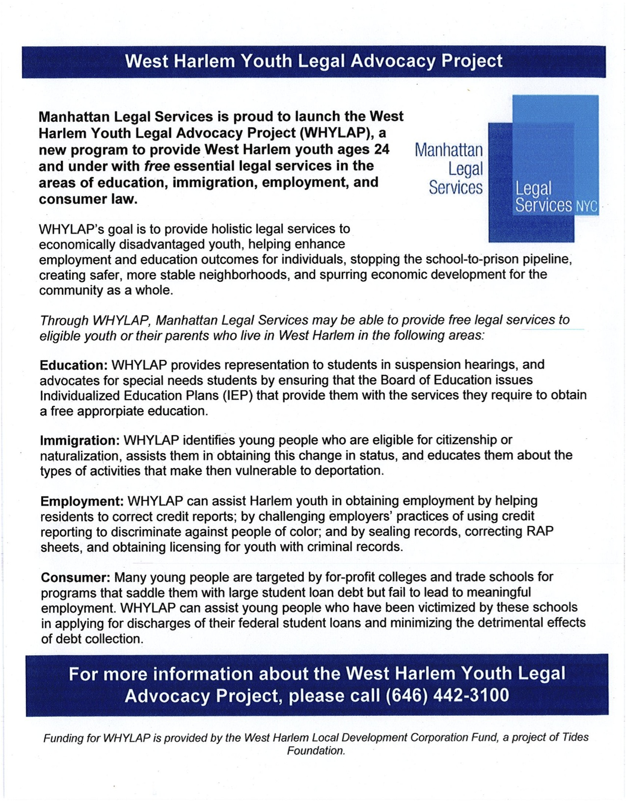 west harlem development corporation community news please see flyer below