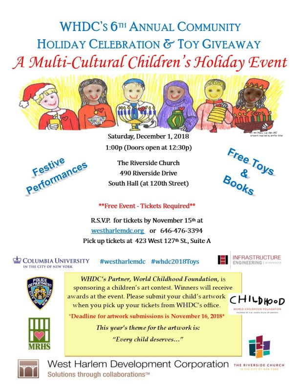 WHDC's 6th Annual Community Holiday Celebration & Toy Giveaway